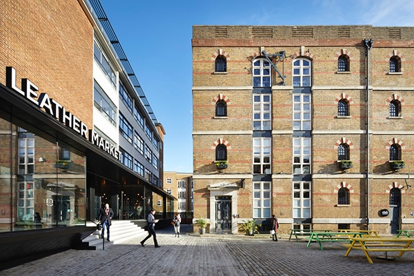 Leather Market building in London