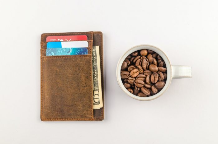 wallet with small note