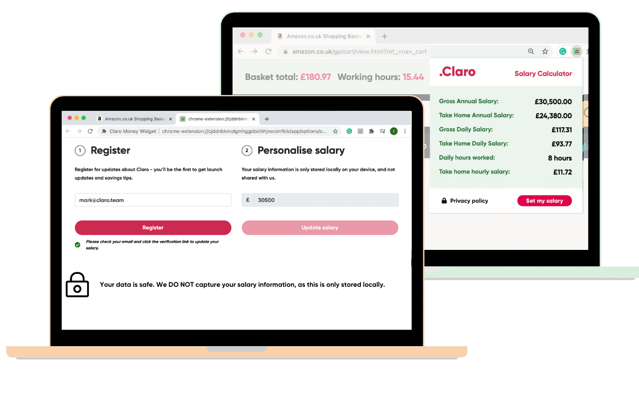 Claro Money's free Chrome extension helps you keep track of your spending